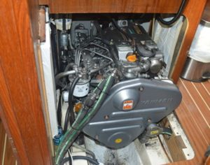 The 50hp Yanmar engine, which has four access areas.