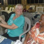 Commodore Becky with Barbara and the money collected from 60 guests. Photo: Karen Earnshaw