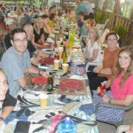 Some of the guests at the Mieco Beach Yacht Club Thanksgiving Dinner. Photo: Karen Earnshaw