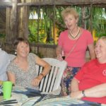Phil, Judith, Pamela, and Karen at the MBYC Thanksgiving Dinner. Photo: Karen Earnshaw
