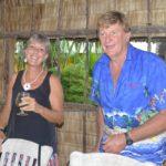Lise and Pete enjoying the dinner at Mon Bokanake. Photo: Karen Earnshaw